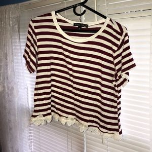 a fourth of july cropped tee!